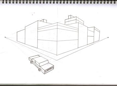 Drawing 2 Point Perspective by Drawing And Visualisation Perspective Drawing