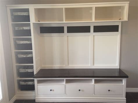 ikea hacks mudroom hemnes entryway hack ikea hackers ikea hackers