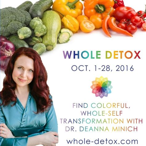 Deanna Minich Whole Detox by Detox Spirituality And Connecting To The Primal Elements