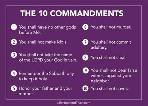commandments list life hope truth