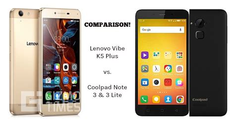 lenovo vibe k5 plus vs coolpad note 3 vs note 3 lite