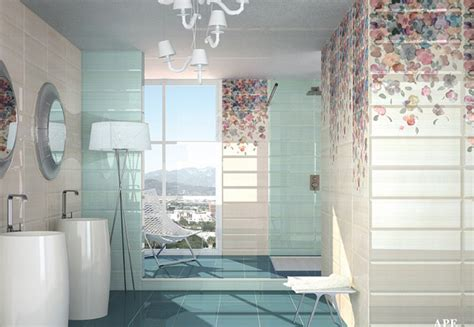 lovely bathrooms  decorative wall tiles home