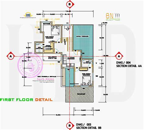floor plan detail drawing free floor plan of 2160 sq house home kerala plans