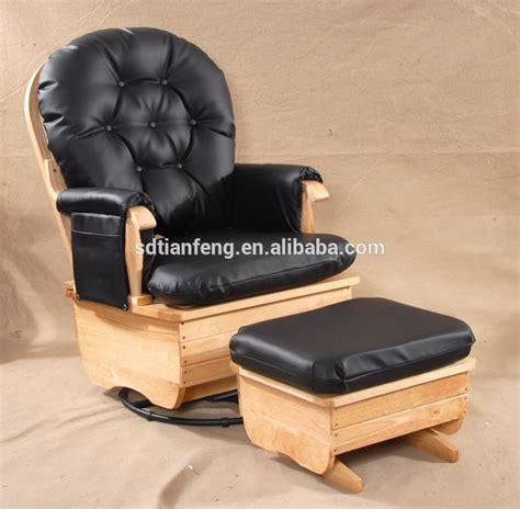 Big Chair With Ottoman Big Seat Pu Cushion Wood Rocking Chair With Ottoman Buy Unfinished Wood Rocking Chairs