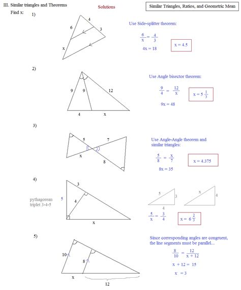 Similar Triangles Worksheet Answers by Right Triangle Similarity Worksheet Worksheets