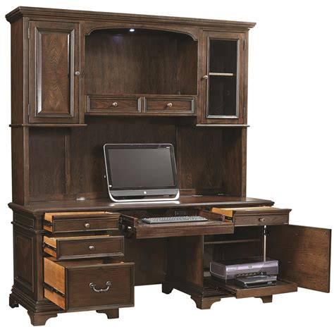 desk and hutch set aspenhome essex 75 quot credenza desk and hutch conlin s