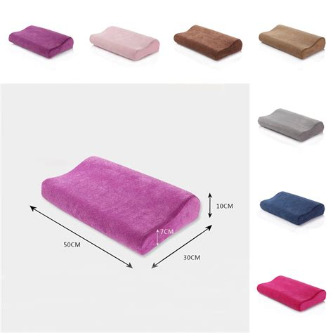 headrest pillow for bed curved contour car bed neck pillow headrest support memory