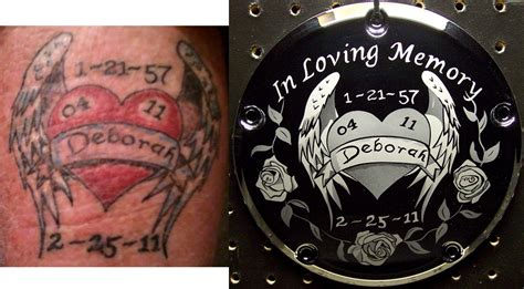 tattoo cover up derby custom motorcycle etchings engravings not hand etched
