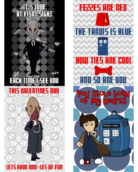 doctor who valentines day cards printable dr who s day cards geeks rule