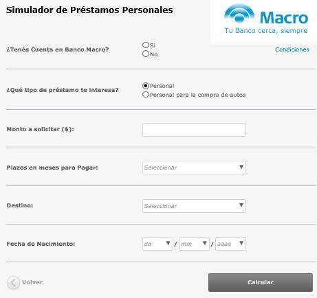 banco macro creditos personales blog mejores simuladores de pr 233 stamos personales online