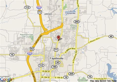 us map fayetteville arkansas map of days inn fayetteville fayetteville
