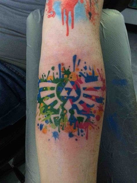 hylian crest tattoo the legend of hylian crest colored
