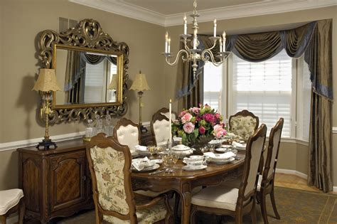 Dining Room Curtains Decorating Dining Room Buffet Decorating Ideas White Chair Grey Wall Chandelier Bedroom Mirror Led Ls