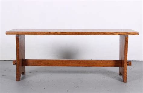 arts and crafts bench arts and crafts style oak mortise and tenon bench