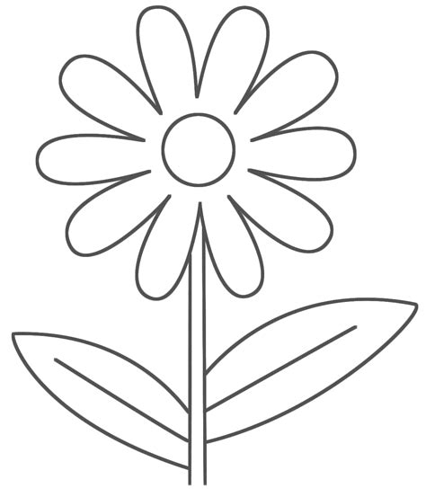 easy coloring pages flowers easy printable flower coloring pages flower coloring