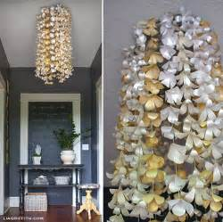 how to make chandeliers at home diy paper flower chandelier