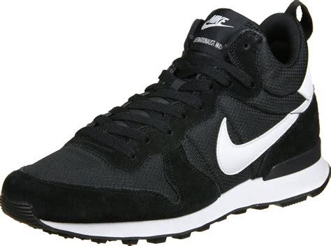 nike mid sneakers nike internationalist mid shoes black white