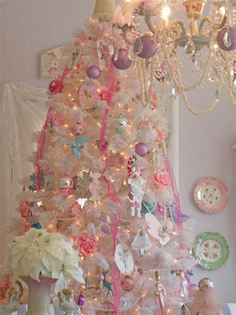 shabby chic christmas tree christmas trees pinterest