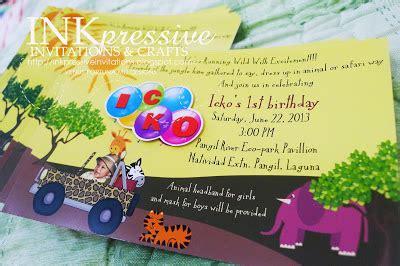 adventure birthday invitation tumbleweed press safari adventure birthday invitation and scrapbook