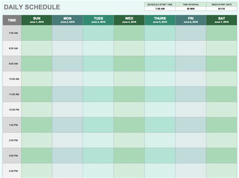 schedule excel template free daily schedule templates for excel smartsheet