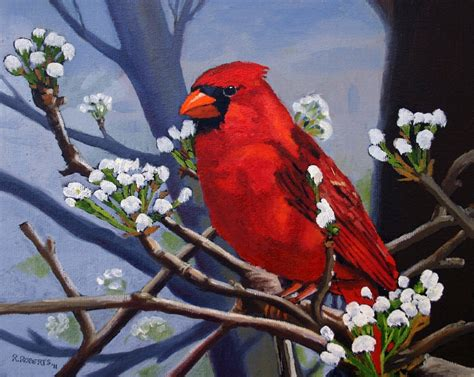 robin roberts fine art robin roberts fine art spring cardinal painting entry