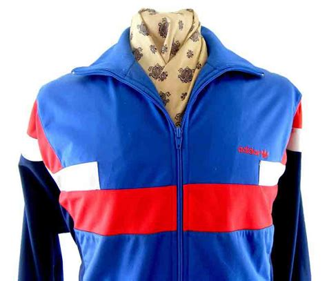 80s retro adidas track suit top blue 17 vintage fashion