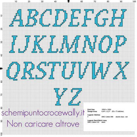 lettere in punto croce alfabeto punto croce lettere maiuscole per nomi col gatto