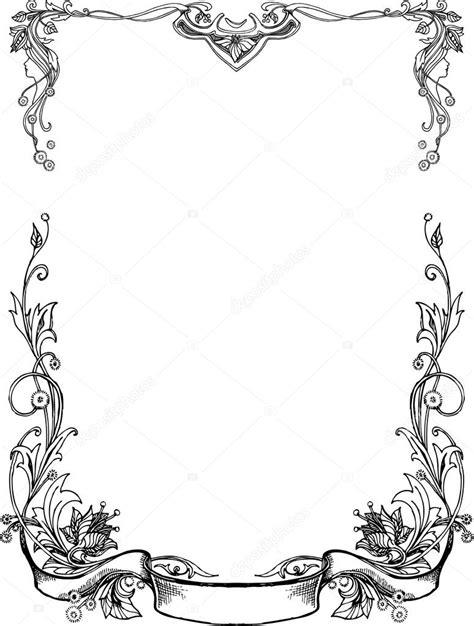 cornici floreali gratis cornici floreali in bianco e nero vettoriali stock