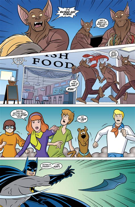Kaos Batman And Robin On Team exclusive preview scooby doo team up 1 starring batman and robin 13th dimension comics