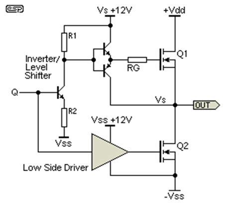 transistor high side driver transistors h bdrige inverter unkown transient