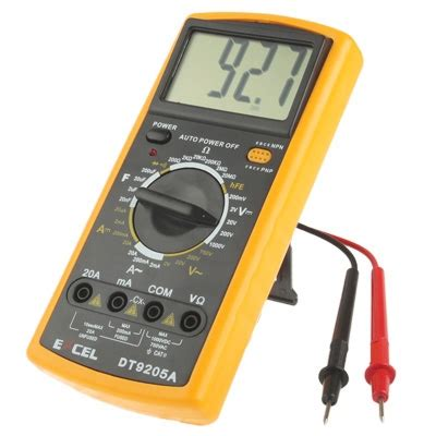 test darlington transistor with multimeter dt9205a lcd digital multimeter for diode testing transistor hfe measuring function alex nld