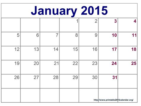 January 2015 Calendar Printable Printable January 2015 Calendar Gameshacksfree