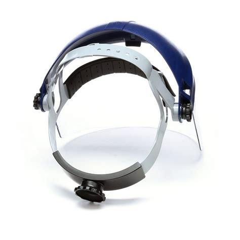 face shield racheting headgear