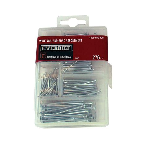 home depot zinc paint everbilt zinc plated wire nail and brad assortment 276
