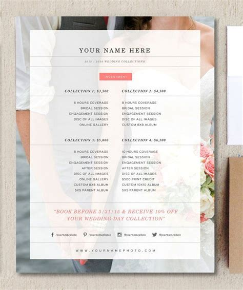 Photography Rate Card Template by 7 Best Rate Card Images On Photography