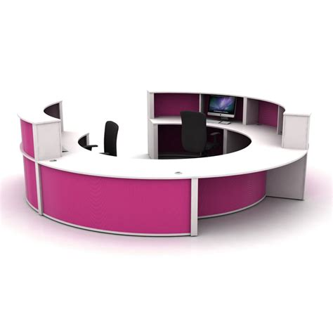 Circular Office Desk Modular Reception Desk Circular Reception Counter Reception Pod
