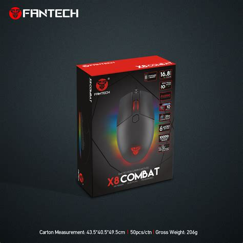 Mouse Fantech X8 by Buy Fantech Combat X8 Professional Usb Wired Optical