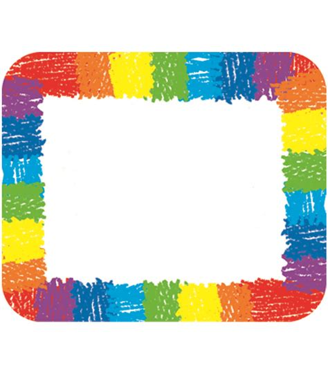 name for rainbow name tags grade pk 8 carson dellosa publishing