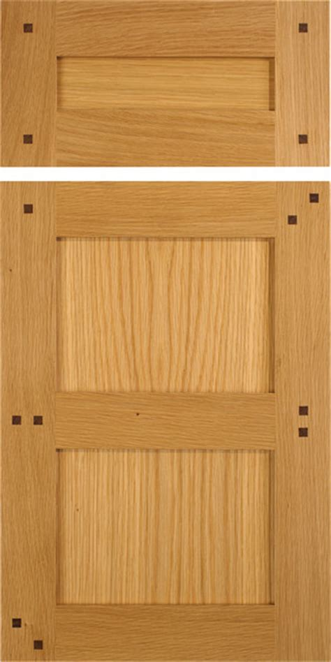 Shaker Style Cabinet Doors Shaker Style Cabinet Doors In White Oak With Walnut Pegs Traditional Kitchen Cabinetry