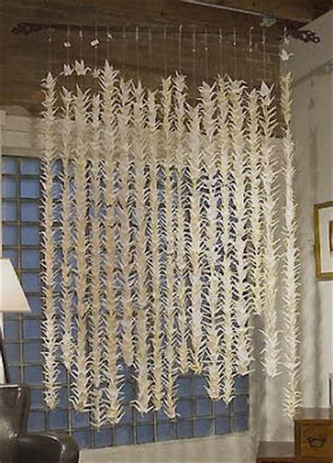 Origami Crane Curtain - lovely clusters the pretty www lovelyclustersblog