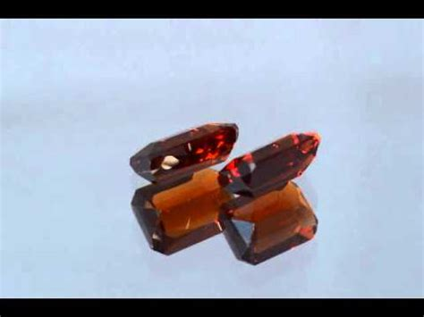 Hq Orange Garnet rich pair orange spessartine garnet emerald cut 5 45 ct