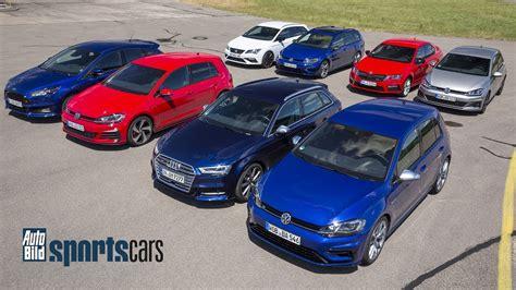 Auto Bild Sportscars Aktuelles Heft by Dragrace Golf Vs Focus St Octavia Rs Cupra 300 S3