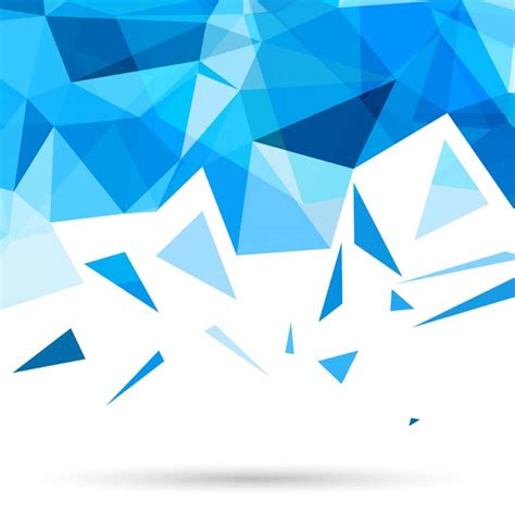 blue triangle pattern vector background blue polygonal background with triangles vector free