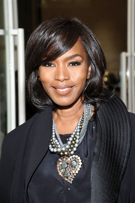 Angela Bassett Hairstyles by Angela Bassett Mid Length Bob Mid Length Bob Lookbook