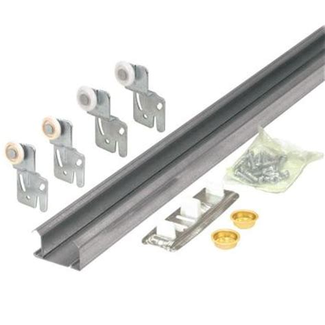 Prime Line Bypass Closet Door Track Kit Barn Door Track System Home Depot