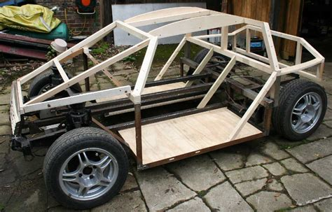 design car frame city sports car coach work build a timber framed wooden