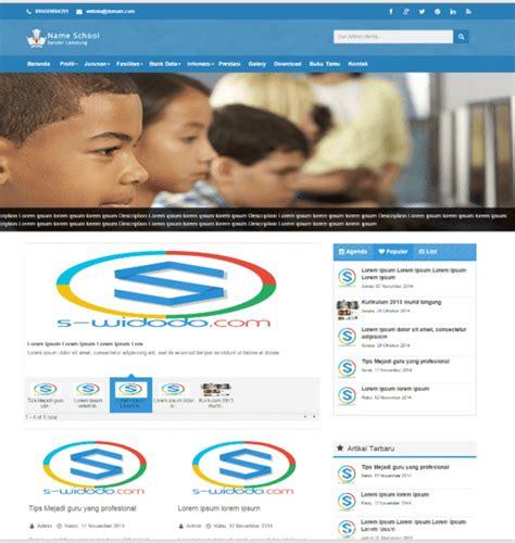 membuat web sekolah dengan php download gratis contoh website profil sekolah dengan php