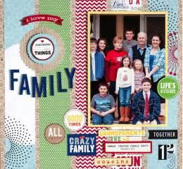 family scrapbook layout me amp my big ideas