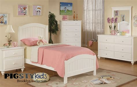brooklyn white beadboard twin bed girls room furniture