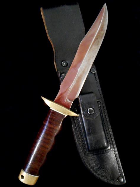 sog fighting knife us war numbered plum blade sog fighting knife